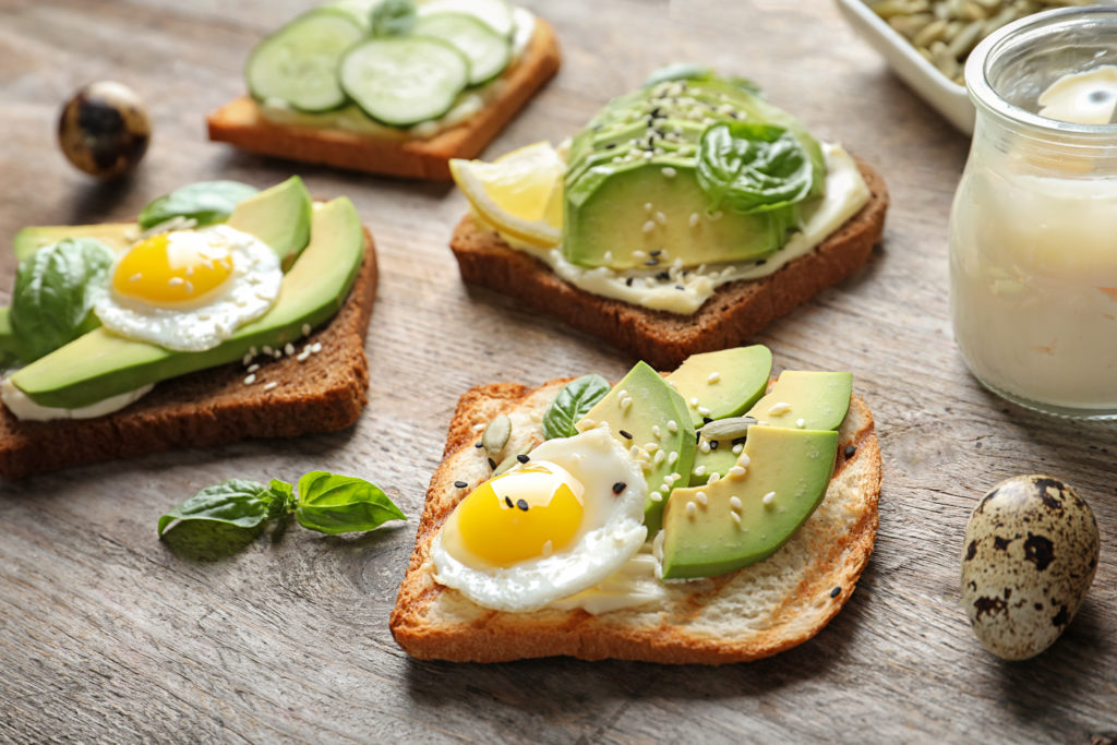 Cucumber and egg toasts