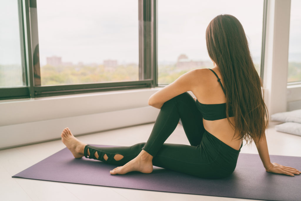 Sitting piriformis stretches