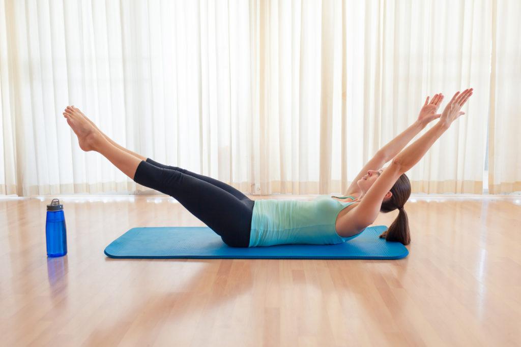 V-ups, full body workout