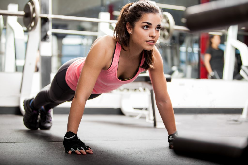 Push-ups for breast lifting