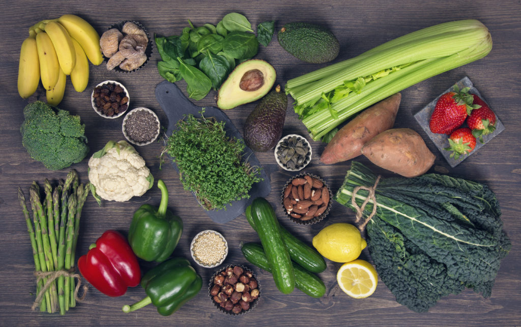 Fruit and vegetables for the alkaline diet