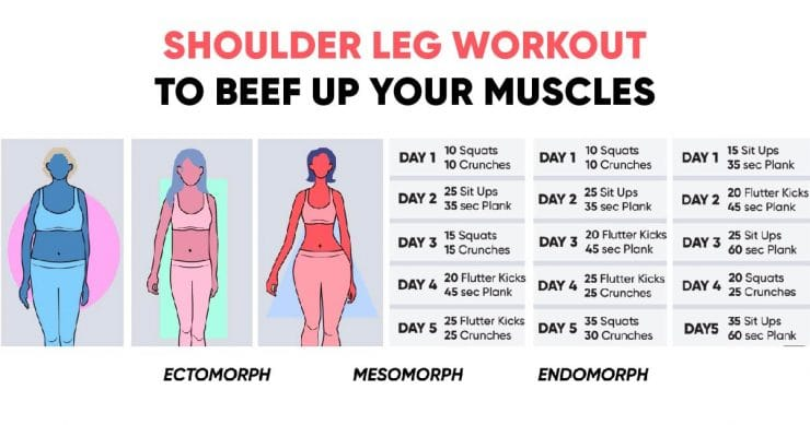 Shoulder leg workout