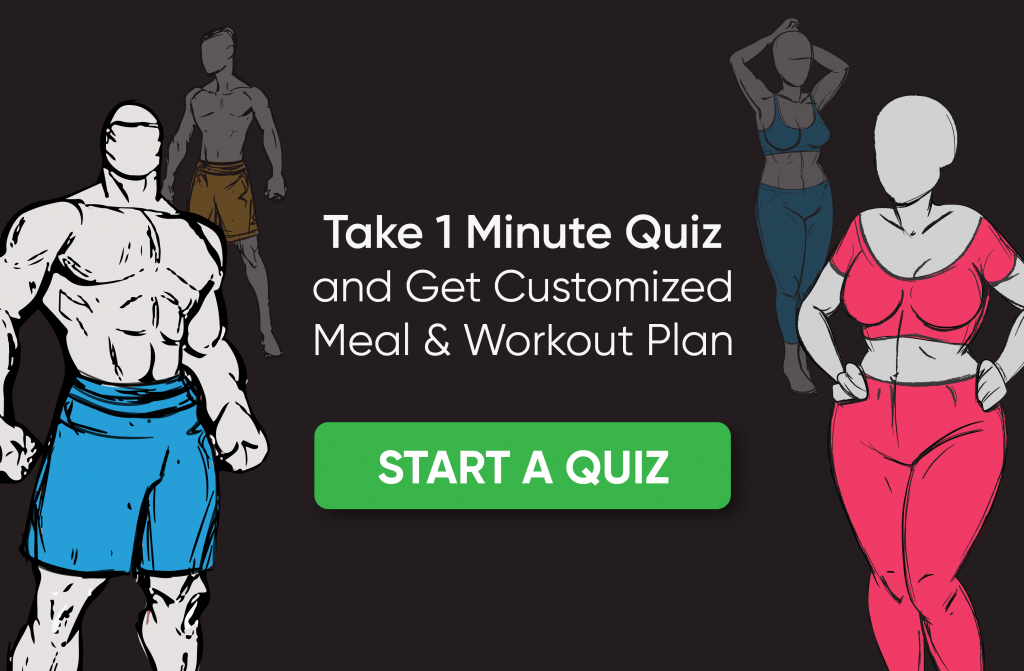 Take 1 Minute Quiz and Get Customized Meal & Workout Plan