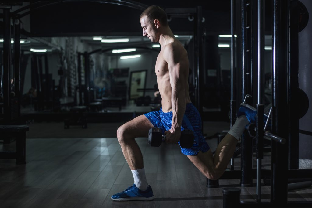 Split squat with elevated rear leg