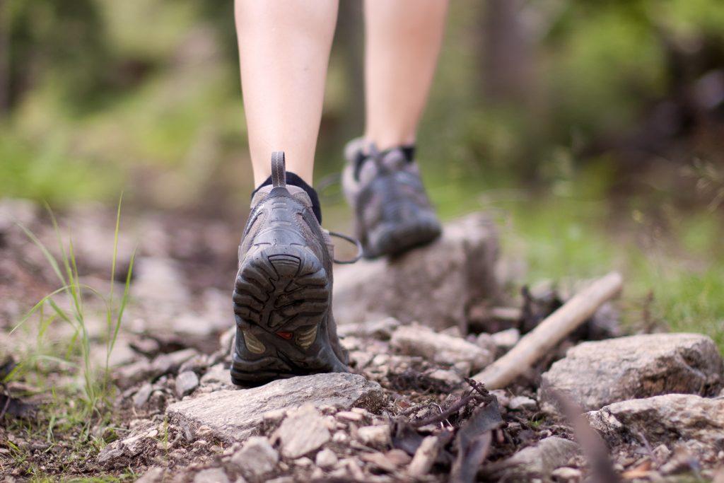 Running vs hiking vs bicycling