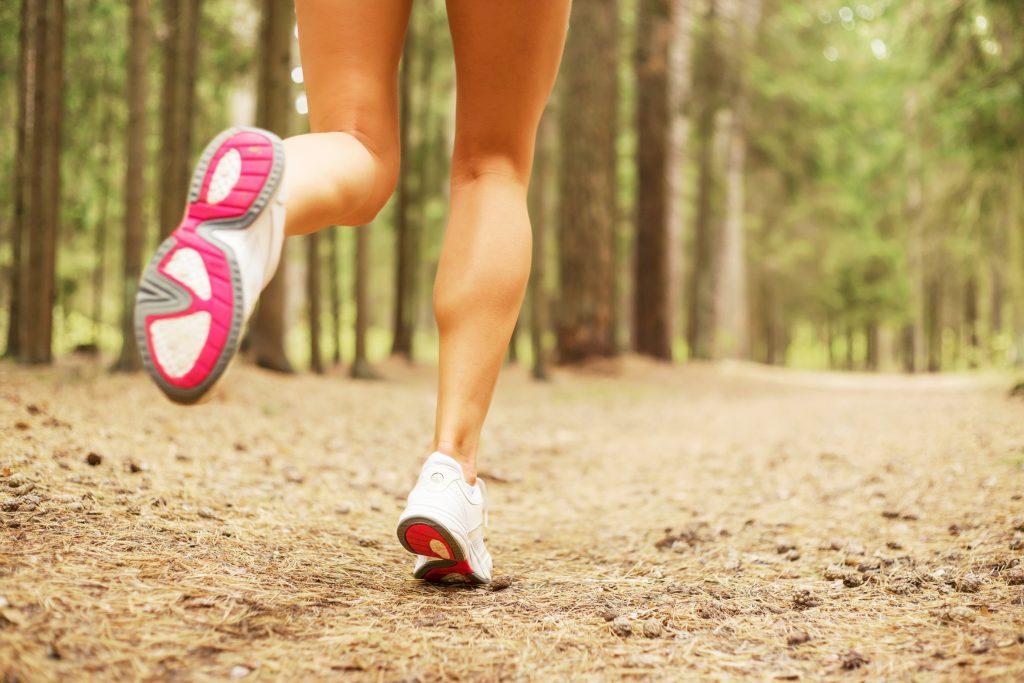 female sprinter calves