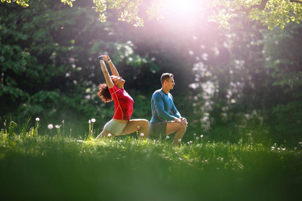 jogging yoga meditation anxiety