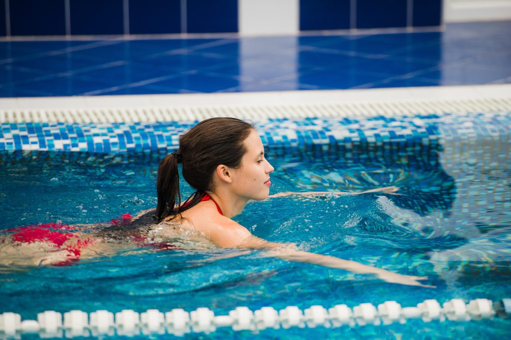 Swimming is a great full body workout