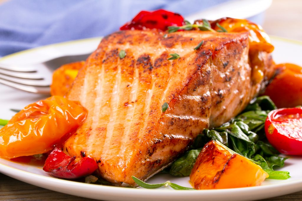 Honey-ginger salmon on cedar plank
