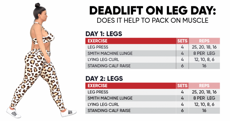 Deadlift on leg day