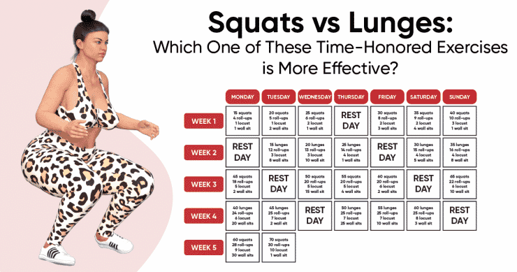 squats vs lunges