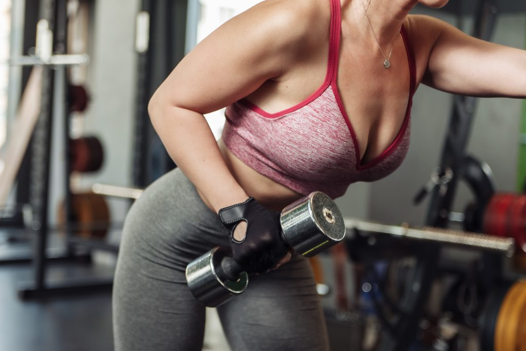 does waist size increase with muscle women