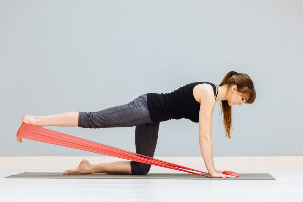resistance band exercises to strengthen lower back