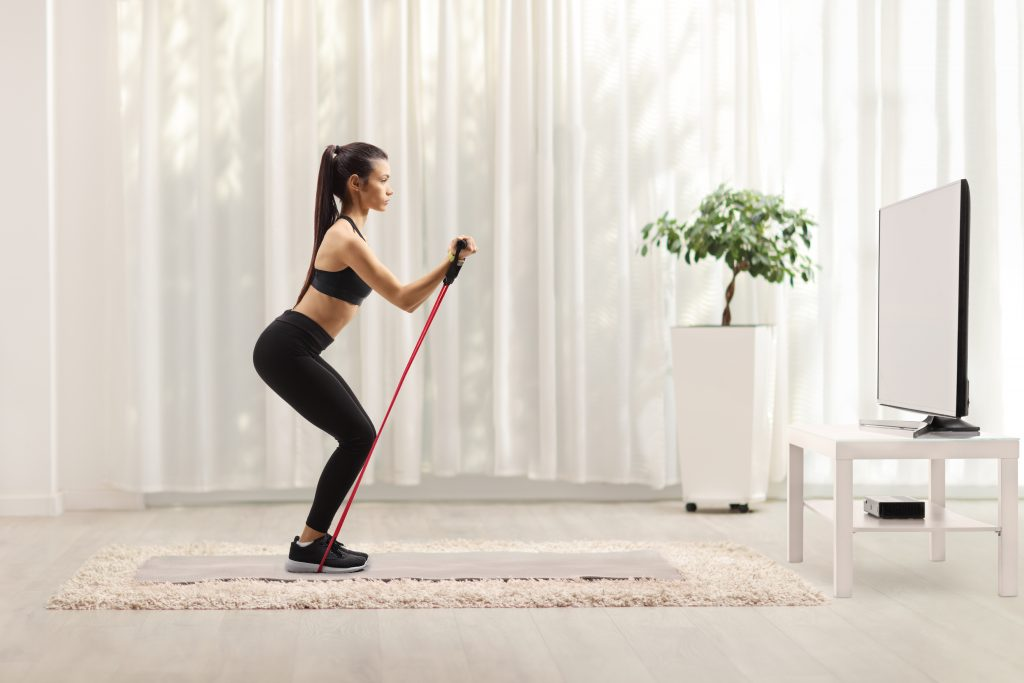 resistance band exercises for chest and back