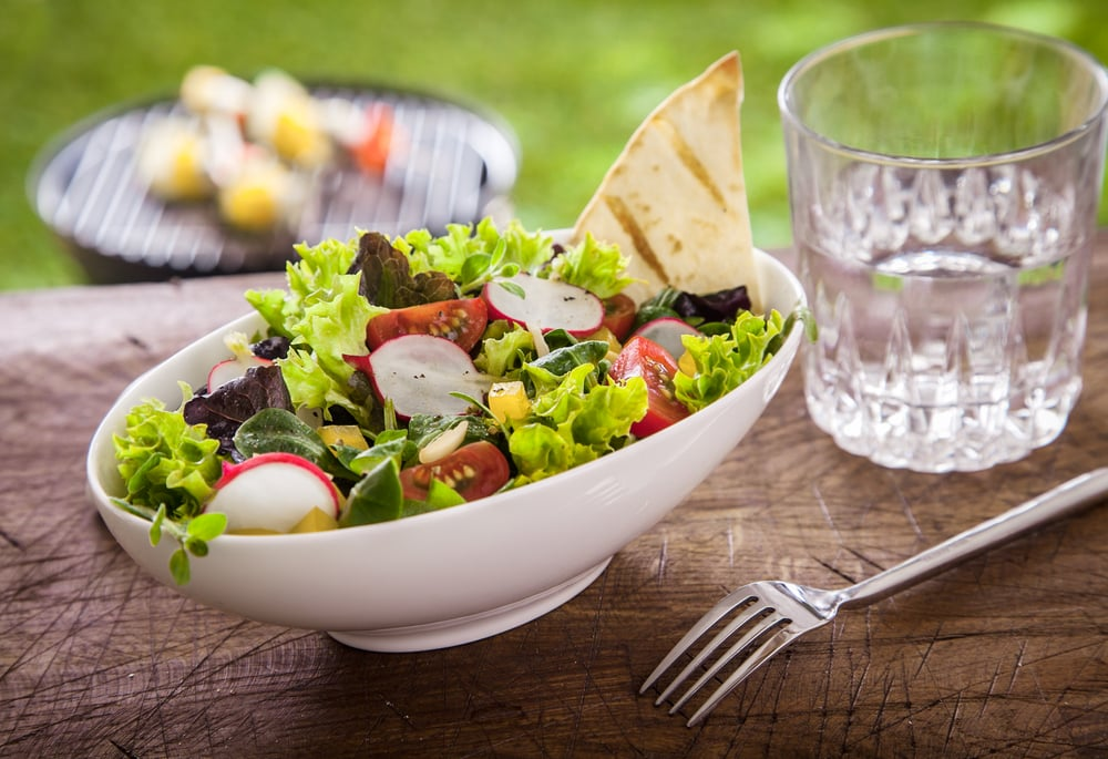 salad and water diet