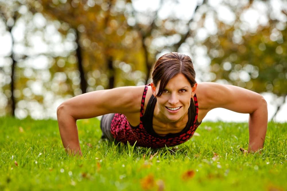 do pushups work abs