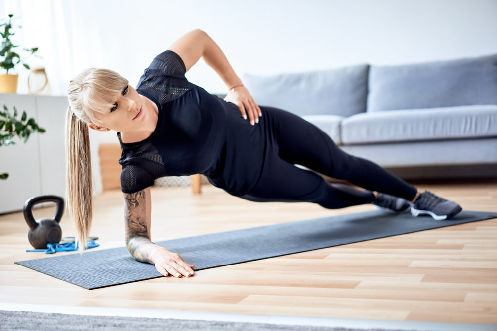 side plank hip lifts exercise