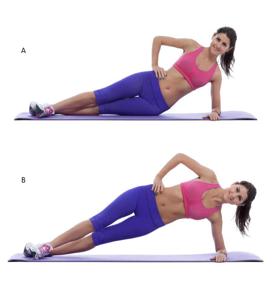 30 side plank hip lifts
