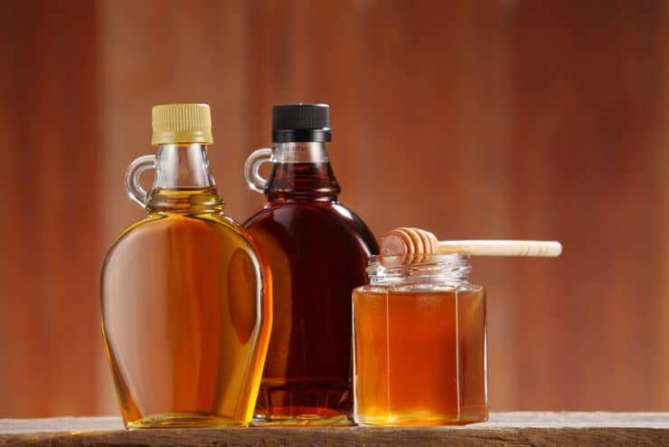 fructose in honey vs maple syrup