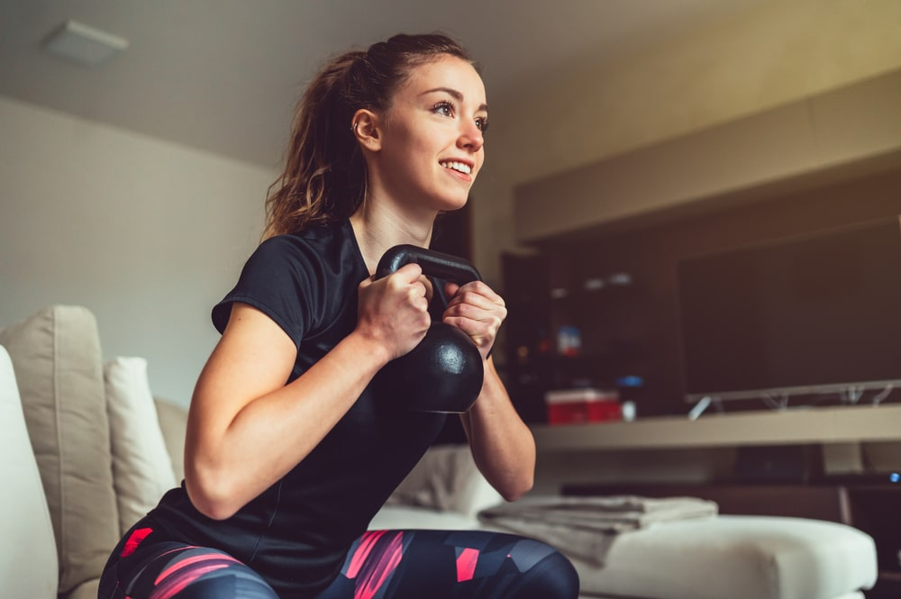 at home leg workout with kettlebell