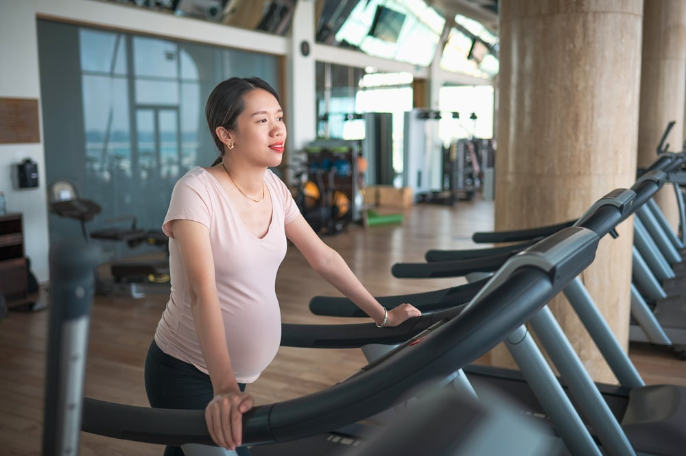 treadmill workout in early pregnancy