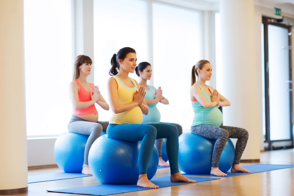 using exercise ball during pregnancy