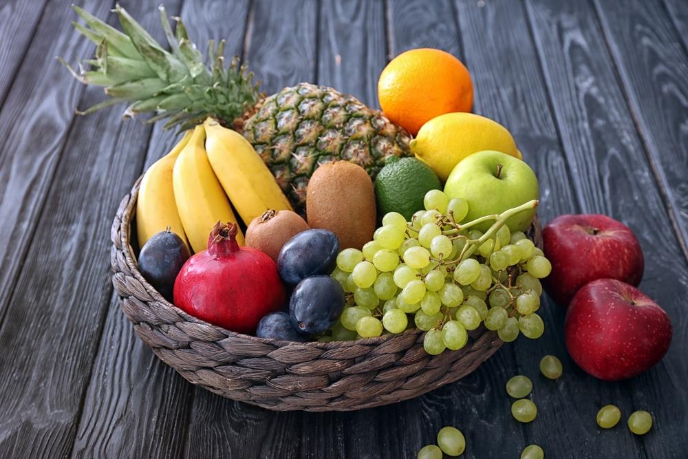 chart of high fiber and low fiber foods
